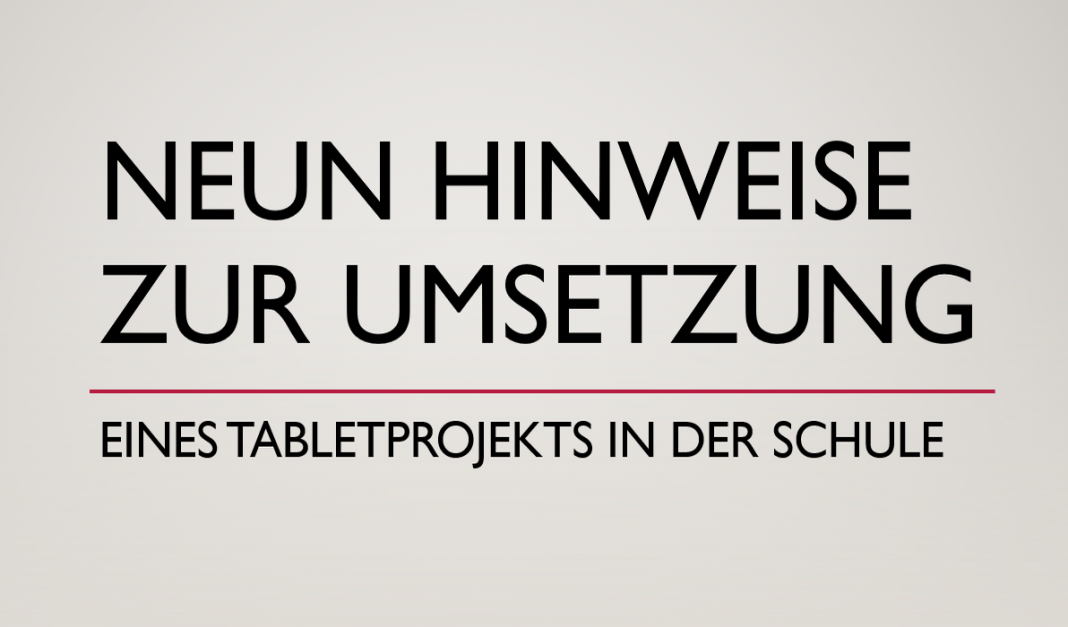 Tabletklasse / iPad-Klasse Konzept