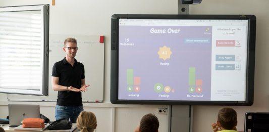 Interaktives Whiteboard / Smartboard oder Tablet / iPad mit Beamer