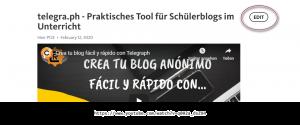 telegraph Blog im Unterricht