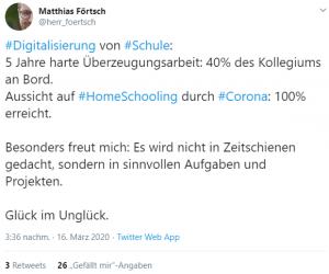 Corona Schule Unterricht Online