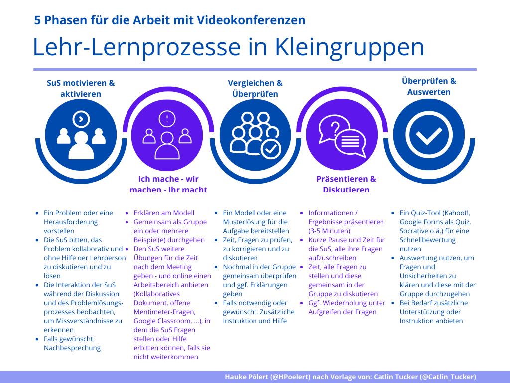Videokonferenzen im Unterricht - Modell für Planung (Hauke Pölert)