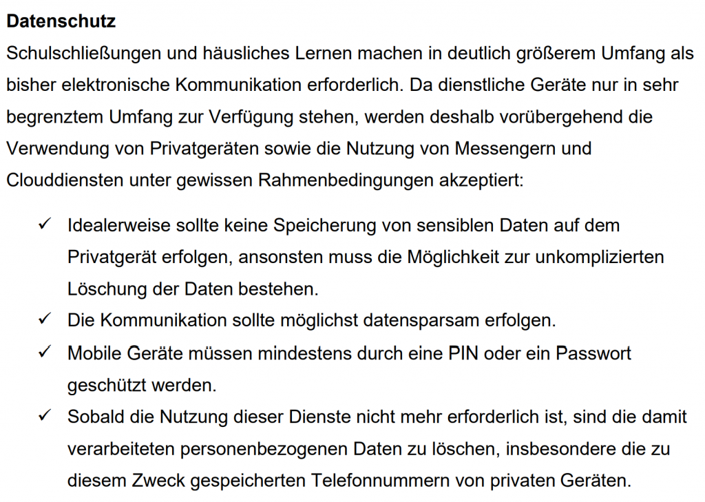"Leitfaden ""Schule in Corona-Zeiten"" des niedersächsischen Kultusministeriums"