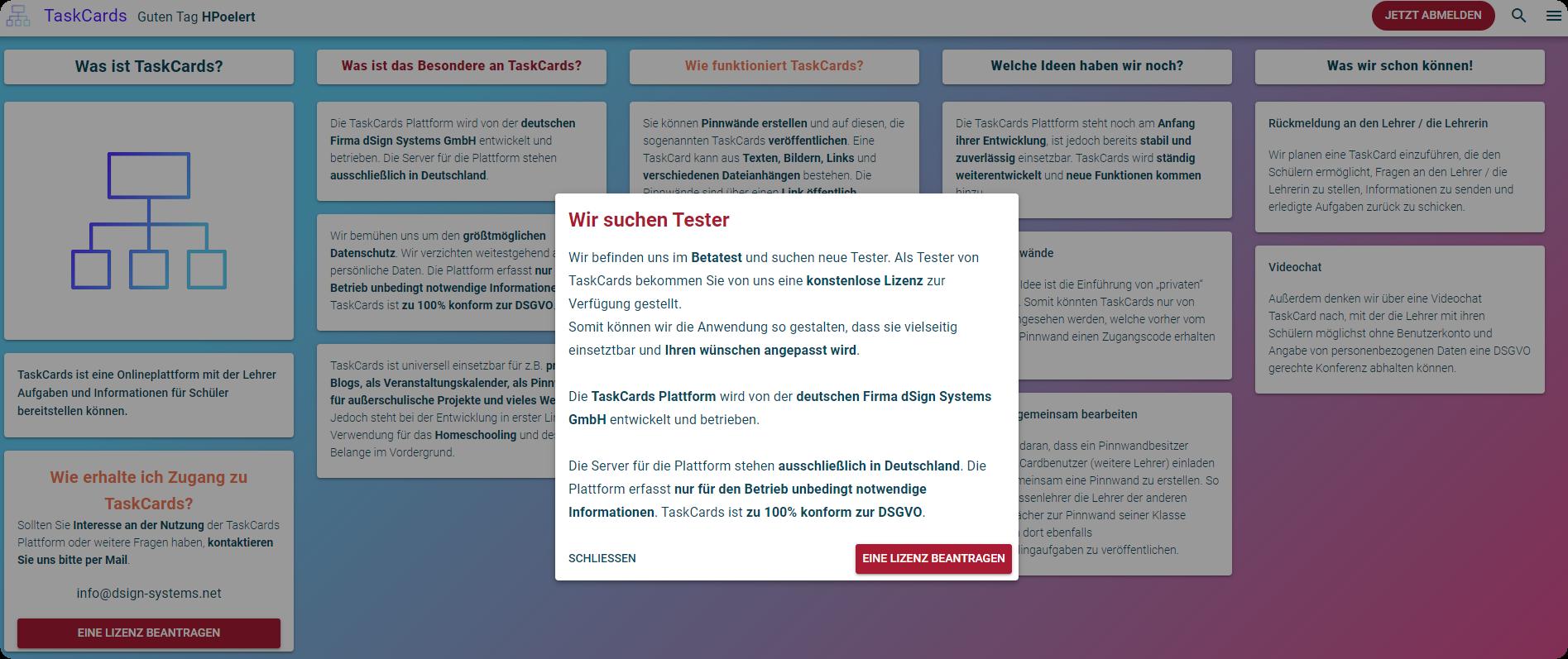 Alternative zu Padlet? TaskCards - neue digitale Pinnwand (DSGVO-konform) 2