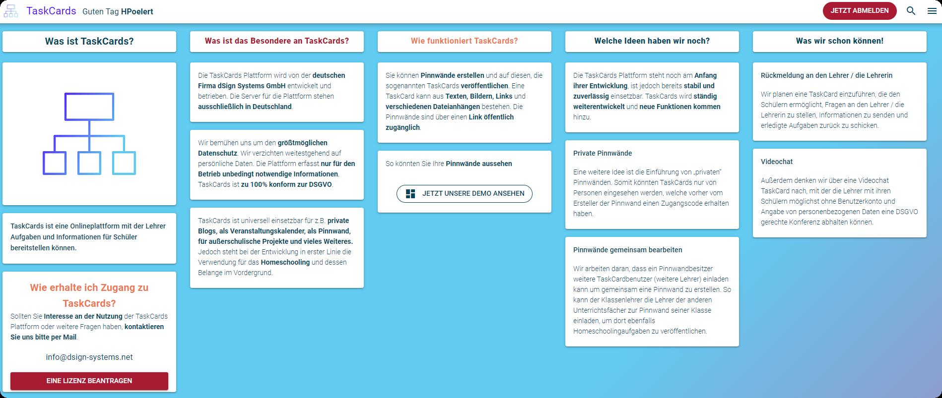 Alternative zu Padlet? TaskCards - neue digitale Pinnwand (DSGVO-konform) 3