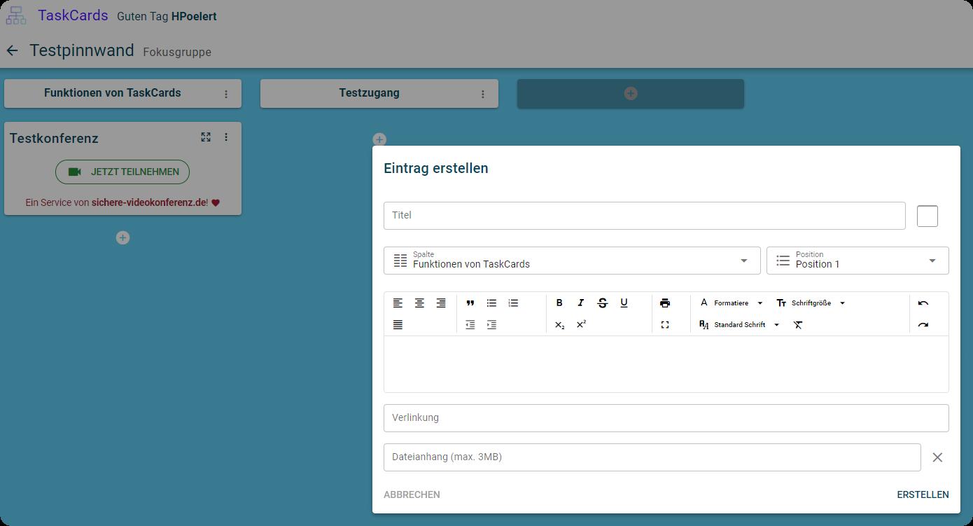 Alternative zu Padlet? TaskCards - neue digitale Pinnwand (DSGVO-konform) 5