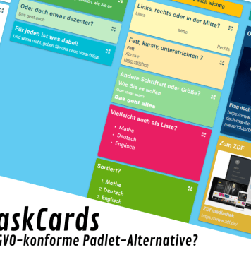 TaskCards - eine Alternative zu Padlet?