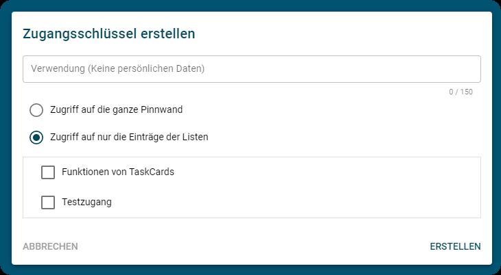 TaskCards - Pinnwände gemeinsam nutzen