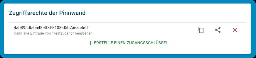 TaskCards - Pinnwand als Link teilen